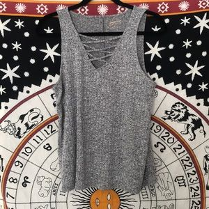 Grey Arizona Jeans Crosshatch Tank